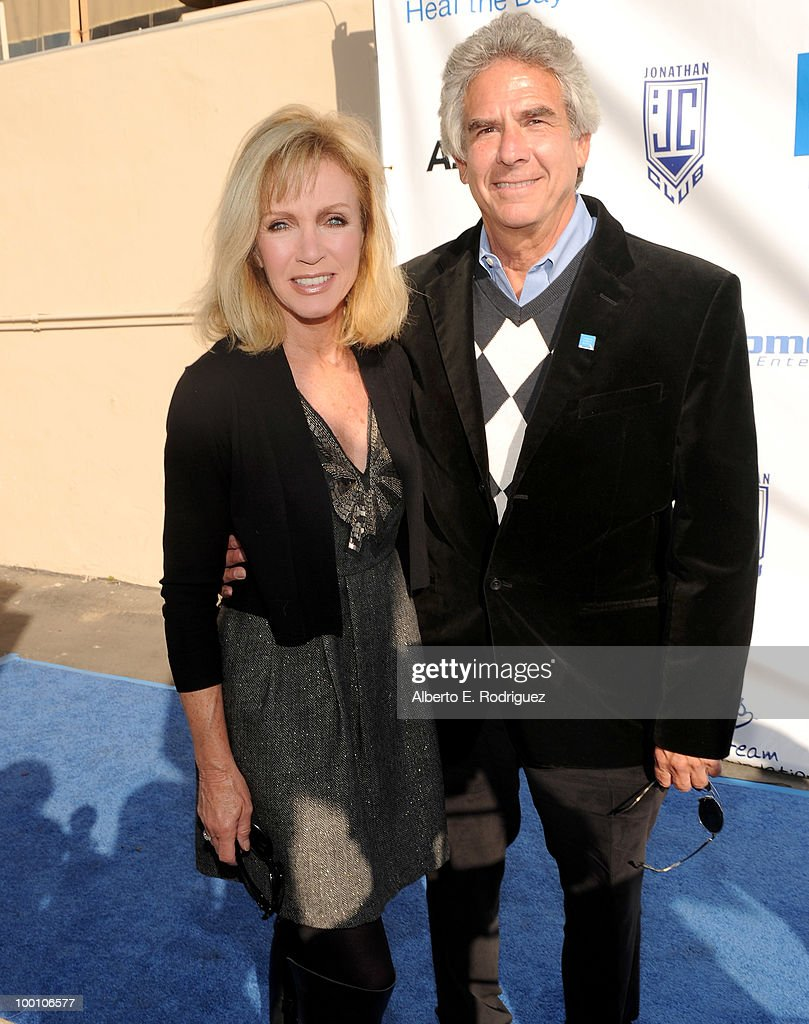 Actress Donna Mills and Richard Holland arrive at Heal the Bay's 25th annual 'Night Under the Stars' on May 20, 2010 in Santa Monica, California.