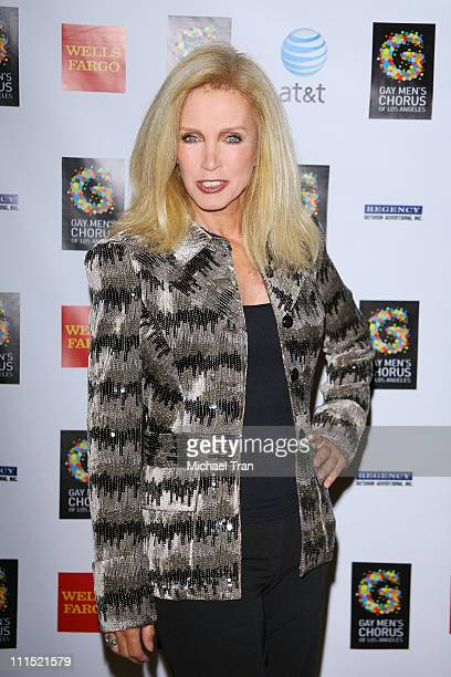 Actress Donna Mills arrives at 30th Anniversary of the Gay Men's Chorus of Los Angeles concert held at the Walt Disney Concert Hall on August 25 2008...