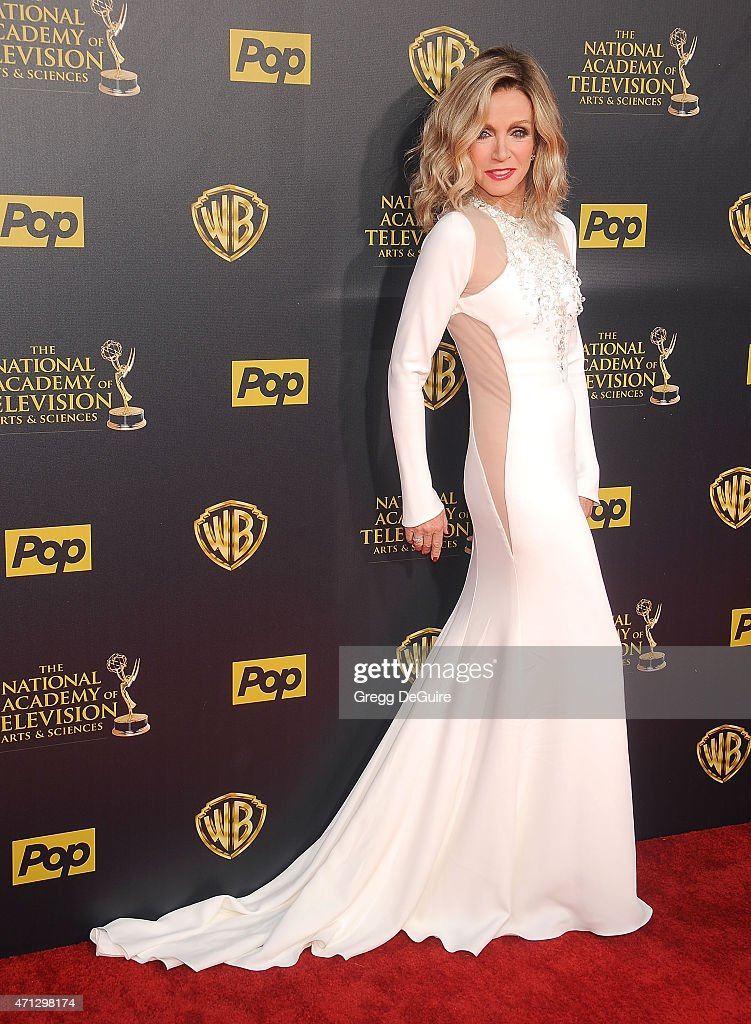 Actress Donna Mills arrives at the 42nd Annual Daytime Emmy Awards at Warner Bros. Studios on April 26, 2015 in Burbank, California.