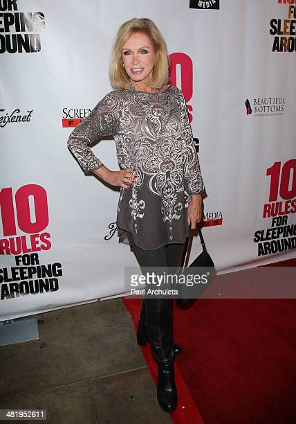 Actress Donna Mills attends the premiere for 10 Rules For Sleeping Around at the Egyptian Theatre on April 1 2014 in Hollywood California