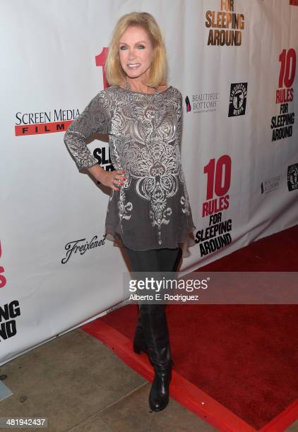 Actress Donna Mills attends the premiere of Screen Media Films' 10 Rules For Sleeping Around at the Egyptian Theatre on April 1 2014 in Hollywood...