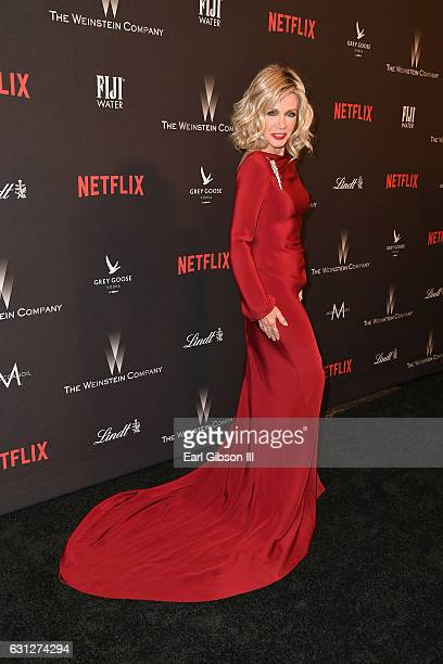 Actress Donna Mills attends The Weinstein Company and Netflix Golden Globe Party presented with FIJI Water Grey Goose Vodka Lindt Chocolate and...