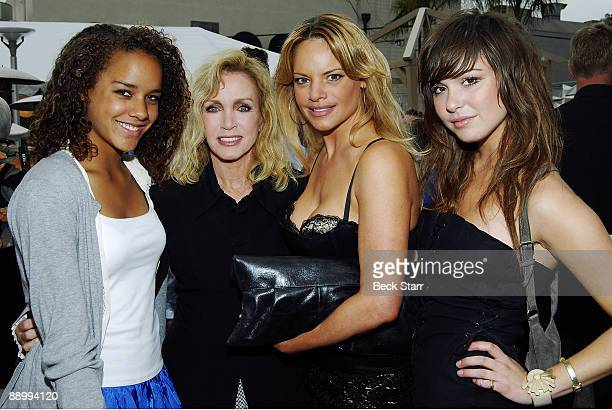 Actress Donna Mills, Daughter Chloe with Paris Hilton's BFF Brittany Flickinger and Christine Marcello attend Life Out Loud 4 at Sunset Gower Studios...