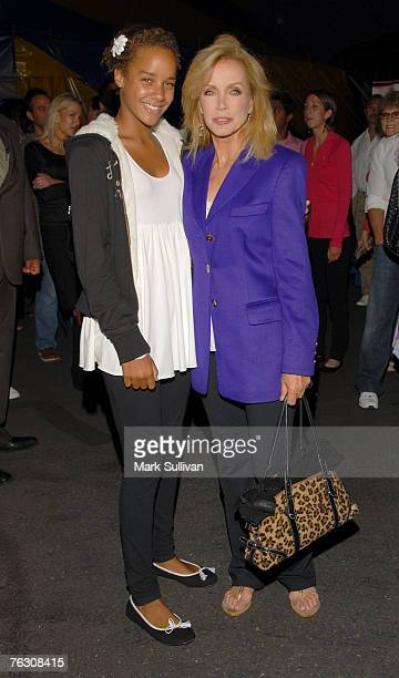Actress Donna Mills, right and daughter Chloe arrive at opening night of Cirque du Soleil - Corteo held in Inglewood, California on August 23, 2007.