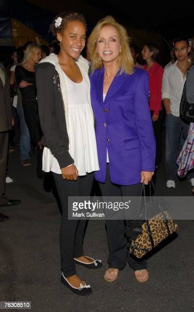 Actress Donna Mills right and daughter Chloe arrive at opening night of Cirque du Soleil Corteo held in Inglewood California on August 23 2007