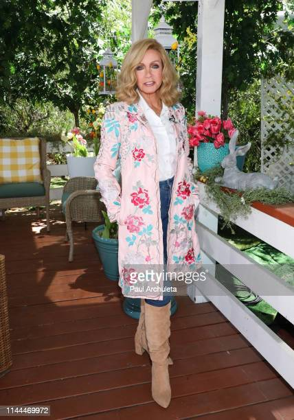 Actress Donna Mills visits Hallmark's Home Family at Universal Studios Hollywood on April 22 2019 in Universal City California