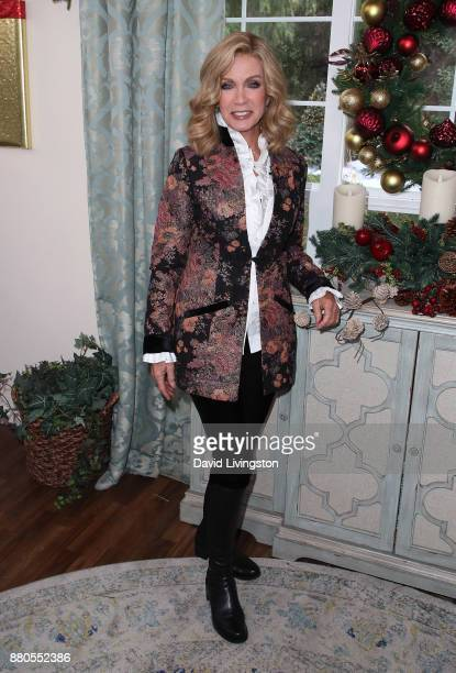 Actress Donna Mills visits Hallmark's 'Home Family' at Universal Studios Hollywood on November 27 2017 in Universal City California
