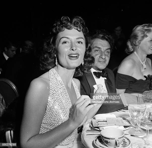 Actress Donna Reed and her husband Film Producer Tony Owen attend the opening night for Tony Martin at the Cocoanut Grove in Los Angeles,CA.