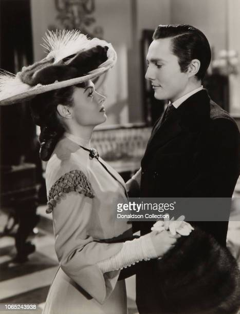 """Actress Donna Reed and Hurd Hatfield in a scene from the movie """"The Picture of Dorian Gray"""""""