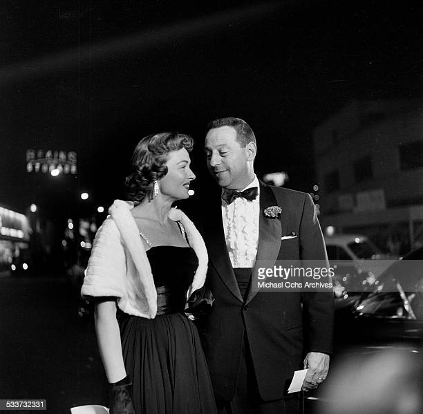 "Actress Donna Reed and husband Film Producer Tony Owens attend premiere party for ""Country Girl"" in Los Angeles,CA."