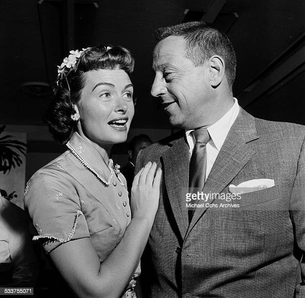 Actress Donna Reed and Tony Owen attend Helen Hayes Party in Los Angeles,CA.