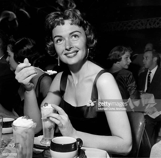 Actress Donna Reed attends the opening for Sammy Davis Jr. At Ciro's in Los Angeles,CA.
