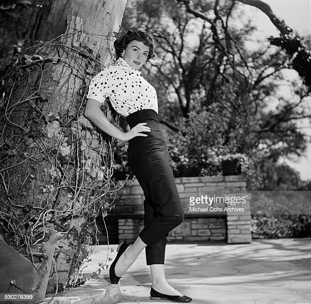 Actress Donna Reed poses at home in Los AngelesCA