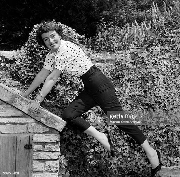 Actress Donna Reed poses at home in Los Angeles,CA.