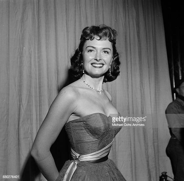 Actress Donna Reed poses at the Academy Award in Los Angeles,CA.