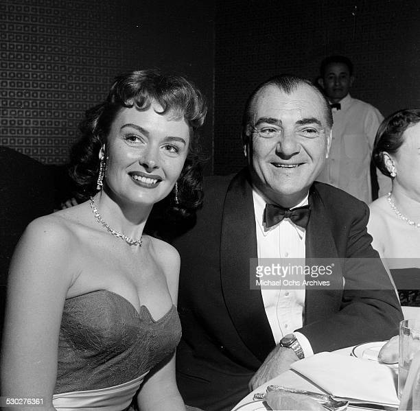 Actress Donna Reed poses with her husband Tony Owen during the Academy Award in Los AngelesCA