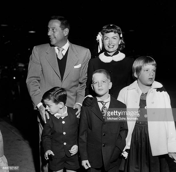 Actress Donna Reed with husband Tony Owens attend a premiere with their kids Timmy Tony Jr. 7, and Penny 8, in Los Angeles,CA.