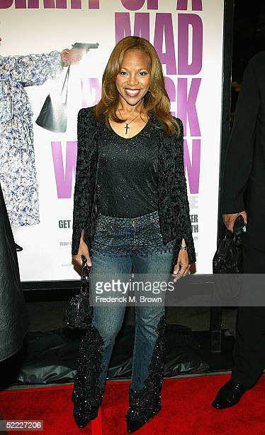 Actress Donna Richardson Joyner attends film premiere of Diary of a Mad Black Woman at the Arclight Cinerama Dome on February 21 2005 in Hollywood...