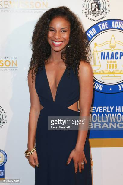 Actress Donna Simone Johnson attends the 27th Annual NAACP Theatre Awards at Millennium Biltmore Hotel on February 26 2018 in Los Angeles California