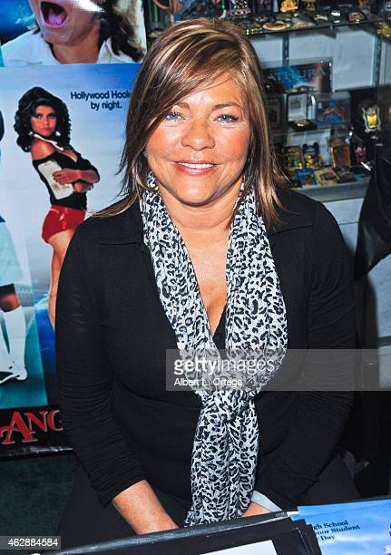 Actress Donna Wilkes at the Second Annual David DeCoteau's Day Of The Scream Queens held at Dark Delicacies Bookstore on January 25, 2015 in Burbank,...