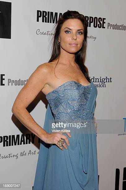 Actress Donnamarie Recco attends A Trilogy Of Recovery The Premiere Of Three Short FilmsBed Ridden Men In A Box And Plan B at Writers Guild Theater...