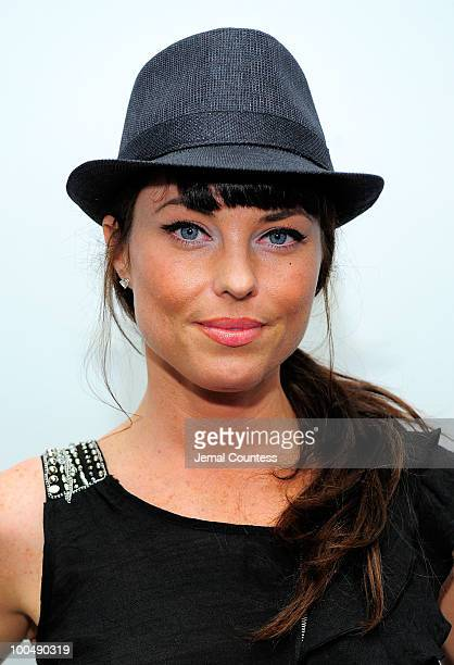 Actress Donnamarie Recco poses for a photo at a screening of Finding Bliss at the Museum of Sex on May 24 2010 in New York City