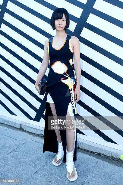 Actress Doona Bae attends the Louis Vuitton show as part of the Paris Fashion Week Womenswear Spring/Summer 2017 on October 5 2016 in Paris France