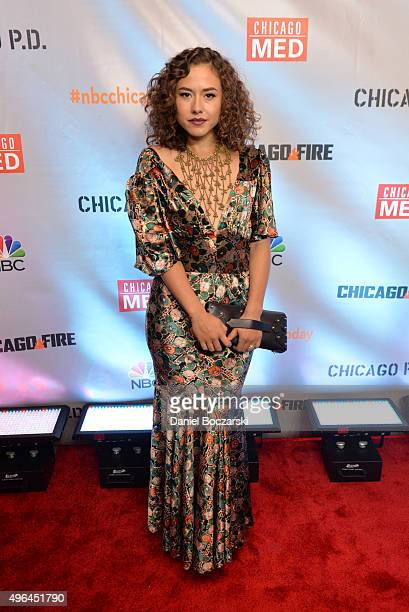 Actress Dora Madison attends a premiere party for NBC's 'Chicago Fire', 'Chicago P.D.' and 'Chicago Med' at STK Chicago on November 9, 2015 in...