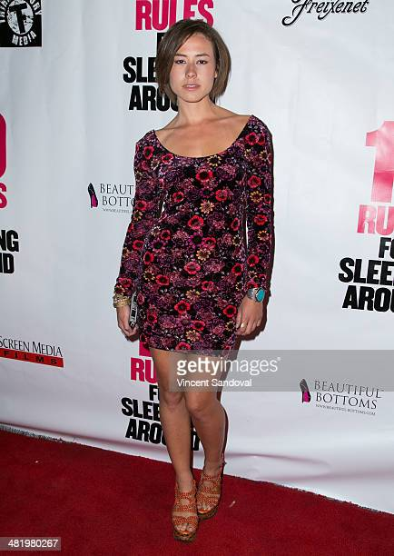 Actress Dora Madison Burge attends the Los Angeles Premiere of 10 Rules For Sleeping Around at the Egyptian Theatre on April 1 2014 in Hollywood...