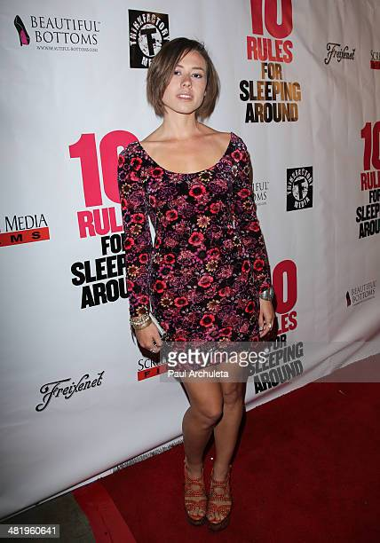 Actress Dora Madison Burge attends the premiere for 10 Rules For Sleeping Around at the Egyptian Theatre on April 1 2014 in Hollywood California