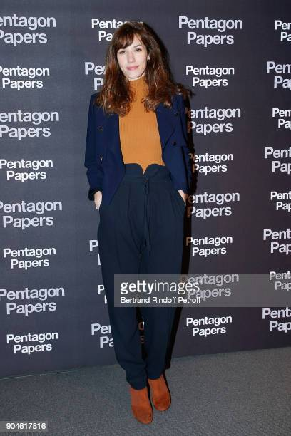 Actress Doria Tillier attends the 'Pentagon Papers' Paris Premiere at Cinema UGC Normandie on January 13 2018 in Paris France