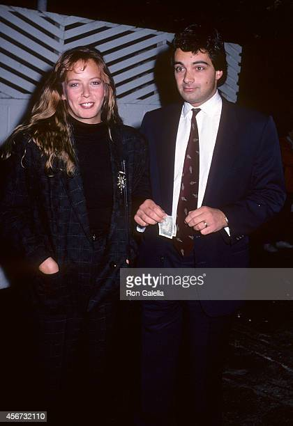 Actress Dorian Lopinto and husband Nicholas Deleo on September 23 1986 at Spago in West Hollywood California