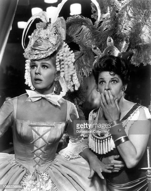 Actress Doris Day and Martha Raye in a scene from the movie Billy Rose's Jumbo