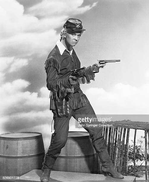 Actress Doris Day as she appears in the title role of the 1953 movie Calamity Jane