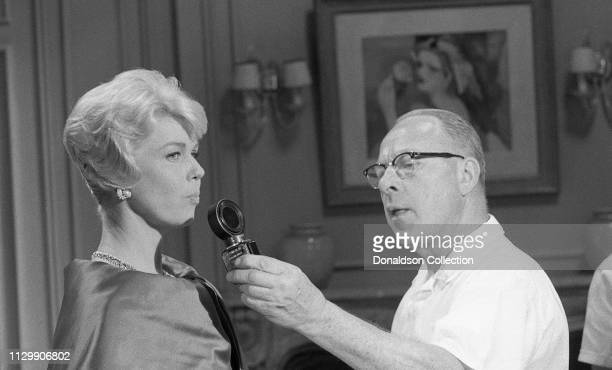 Actress Doris Day on the set of the movie 'Pillow Talk' in 1959