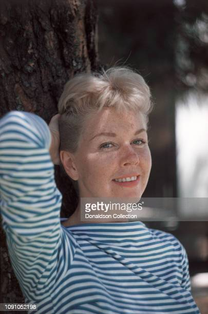 Actress Doris Day poses for a photo on July 27 1957 in Los Angeles California