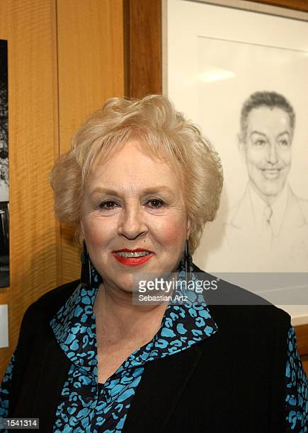 Actress Doris Roberts attends the opening of the exhibit Under the Hat The Legendary Brown Derby Restaurants May 10 2002 in Los Angeles CA