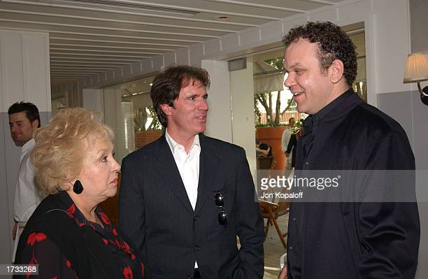 Actress Doris Roberts director Rob Marshall and actor John C Reilly attend 'The Brunch Honoring Chicago Director Rob Marshall' at Ian Schrager's...