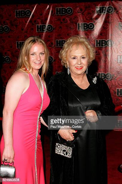 Actress Doris Robertson star of 'Everybody Loves Raymond' and her grandaughter Kelsey arrive at the HBO party celebrating the 56th Annual Primetime...