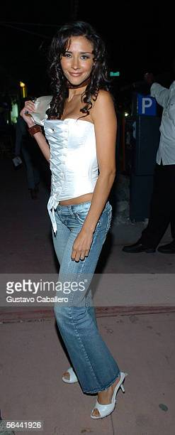 Actress Dorismar arrives for Laura Ferretti calendar release party at Mansion nightclub on December 15 2005 in Miami Beach Florida
