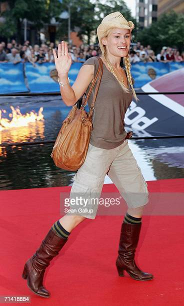 """Actress Dorkas Kiefer arrives for the German premiere of """"Poseidon"""" on July 11, 2006 at the Berlinale Palast in Berlin, Germany."""