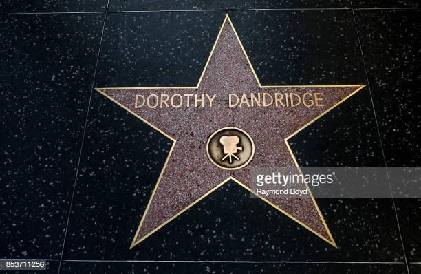 Actress Dorothy Dandridge's star along the Hollywood Stars Walk of Fame in Hollywood California on September 10 2017