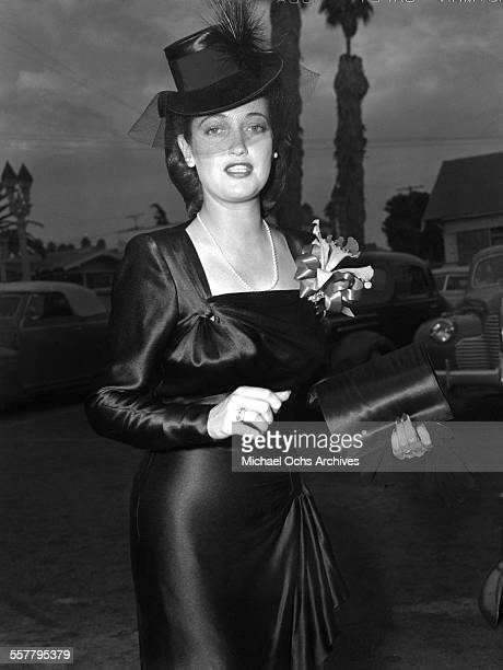 Actress Dorothy Lamour arrives to an event in Los Angeles California