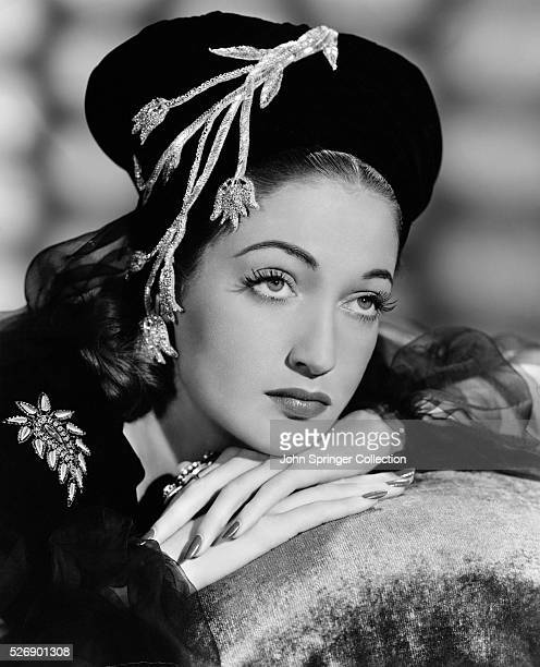 Actress Dorothy Lamour in Beret