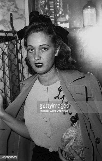 Actress Dorothy Lamour poses as she attends an event in Los Angeles California