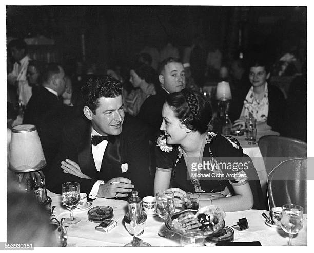 Actress Dorothy Lamour with husband Herbie Kay attends an event in Los Angeles California