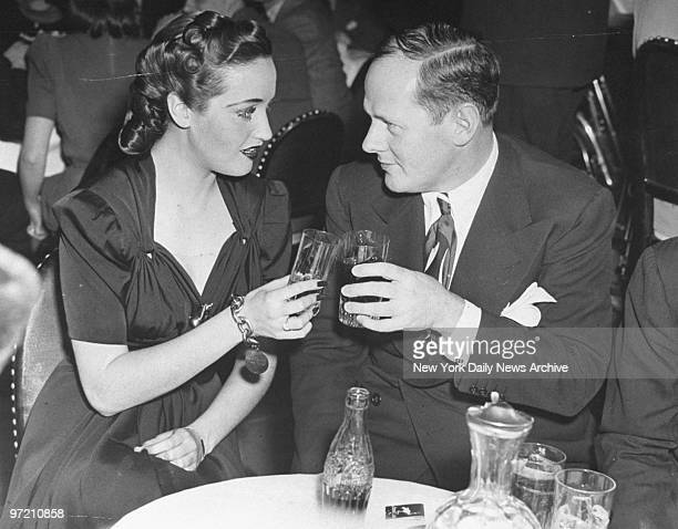 Actress Dorothy Lamour with Sherman Billingsly at the Stork Club