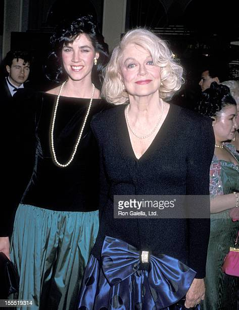 Actress Dorothy Malone and daughter Mimi Bergerac attend the Sixth Annual American Cinema Awards on January 6 1989 at Beverly Hilton Hotel in Beverly...