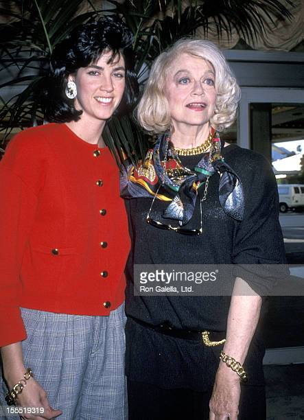 Actress Dorothy Malone and daughter Mimi Bergerac attend the Sixth Annual American Cinema Awards Rehearsals on January 5 1989 at Beverly Hilton Hotel...