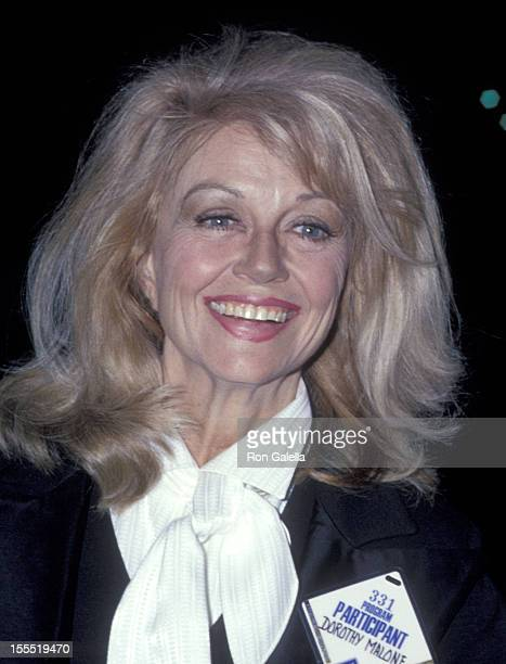 Actress Dorothy Malone attends the 50th Annual Academy Awards Rehearsals on April 2 1978 at Dorothy Chandler Pavilion Los Angeles Music Center in Los...